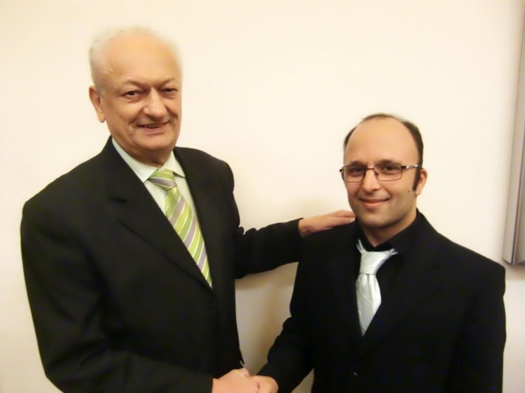 Der ehemalige und der neue Fraktionssprecher der Grünen im Bezirksausschuss: Holger Machatschek (li.) mit Andreas Baier.