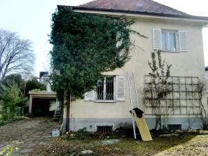 Die ehemalige kleine Villa von Eva Braun, der Geliebten von Adolf Hitler, in der Delpstraße 12.