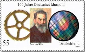 Sondermarke der Deutschen Bundepost zum 100jhrigen Bestehen des Deutschen Museums.