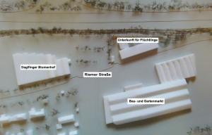 Alternativstandort Riemer Straße 200 für eine Flüchtlingsunterkunft an Stelle einer Anlage am Schimmelweg.