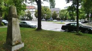 Der Galileiplatz in Altbogenhausen ist nach Ansicht der CSU-Fraktion im Bezirksausschuss ein möglicher Standort für eine Anwohnertiefgarage.