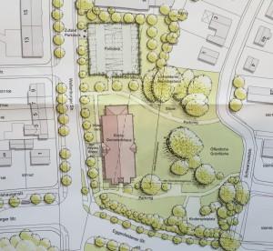Der Lageplan des Mormonen-Gemeindehauses in Zamdorf.    Visualisierungen: Stadt München