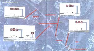 An vier Stellen entlang des Isarrings werden im Zuge des dreispurigen Ausbau, der im Herbst abgeschlossen sein soll, Kragarme zur dynamischen Geschwindigkeitsregelung und somit zum optimale Verkehrsfluss installiert.  Karte: Stadt München/Bearbeitung: hgb