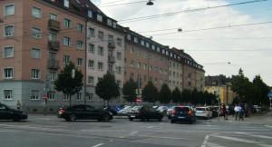 ... in der Prinzregentenstraße stadteinwärts oder ...
