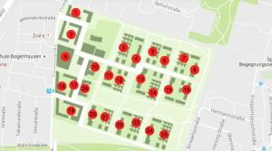 25 Baufelder umfasst das künftige Wohnquartier Prinz-Eugen-Park an der Cosimastraße.     Karte: Konsortium Prinz-Eugen-Park
