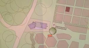 Der Vorentwurf für ein Holzhaus an Stelle der zwei Bauwagen auf dem Areal des Ökologisches Bildungszentrums (ÖBZ) an der Englschalkinger Straße.     Foto: hgb