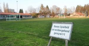 Die Bezirkssportanlage des SV Helios Daglfing an der Westpreußenstraße in Englschalking.  Foto: hgb