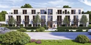 So soll das Gebäude mit 46 Single-Wohnungen an der Effnerstraße aussehen. Auffallend: die Bepflanzungen des Straßenrand- und des Mittelstreifens, die es in dieser Art stadtweit nicht gibt.    Visualisierungen: Münchener Hausbau
