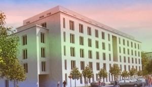 So soll das Pflegeheim – Bauherrin der Einrichtung mit 108 Pflegeplätzen ist die Israelitische Kultusgemeinde München – im Prinz-Eugen-Park einmal aussehen. Der Umplanung muss jetzt noch die Stadt zustimmen.  Foto: hgb