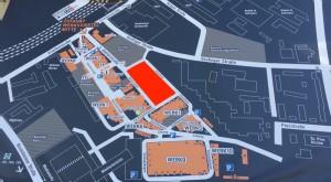 Plan des Werksviertels im Berg am Laim. Rot markiert die Fläche für das Konzerthaus.   Foto: hgb